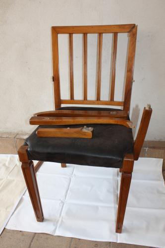 Židle Art Deco - Před restaurováním